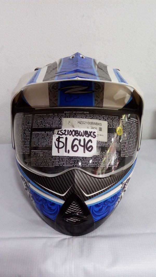 casco cerrado tipo cross marca zeus modelo demon