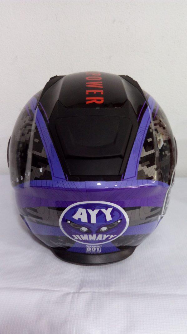 casco cerrado marca voss modelo 989 moto