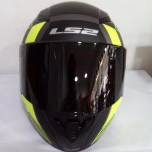 casco marca ls2 modelo rapid negro amarillo