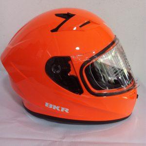 casco cerrado marca BKR color naranja