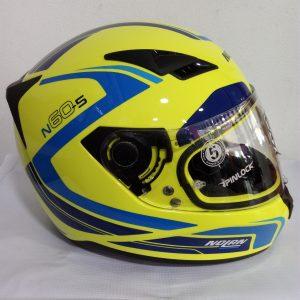 casco abatible marca nolan modelo n60-s amarillo motoplaza cuernavaca